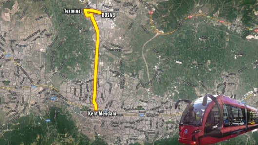 New Tram Line of Bursa